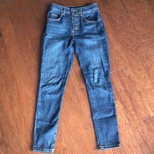 High rise blue carmar jeans